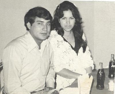 23092018 Ricardo Torres Méndez e Irma Burciaga Flores en un convivio hace 46 años.