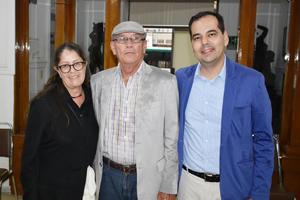 28092018 RECIENTE EVENTO.  Soledad, Juan Manuel y Carlos.