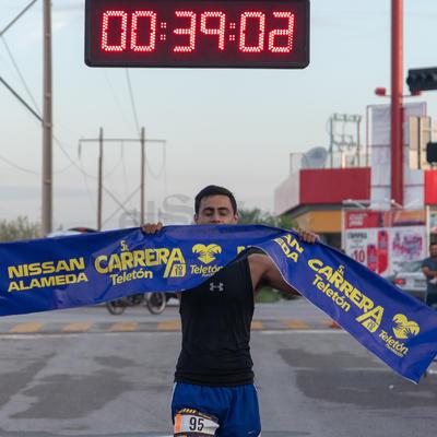 José Alfredo Vargas fue el primer varón en completar el recorrido.