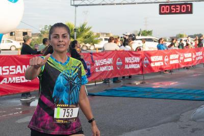 El tercer puesto fue para Ana Lucía Murillo, llegando a la META cuando el reloj marcaba 52:33.