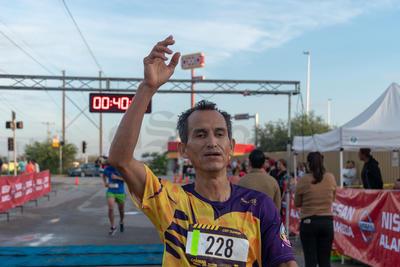 El segundo lugar varonil fue para Arturo González Saldívar, con tiempo de 39:52.