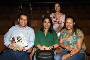 29092018 Juan Carlos Ramírez, Sara Muñoz, Sonia Garibaldi y Eva Gottfied.