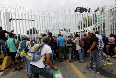 En el segundo filtro, se enfrentaron con elementos de seguridad mexicanos.