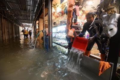 El nivel actual del agua en Venecia es el más alto que se ha registrado desde noviembre de 2012.