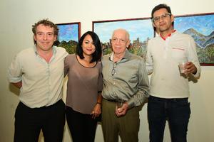 01102018 Jerome y Babeth Paolacci, Pierre Brachet y Elías Agüero.