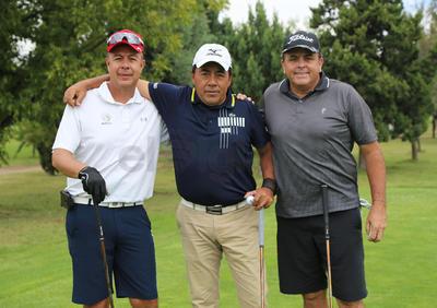 Alfonso Aragón, Manuel Palafox y Rodolfo Dorador.