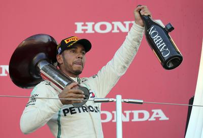 Lewis Hamilton logró el podio en el Gran Premio de Japón.
