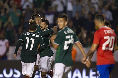 """México consiguió al final tener dominio de cancha en """"El Volcán"""" de la UANL."""