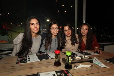 Karla Amaro, Stephanie Saucedo, Erika Flores y Fernanda Sariñana.