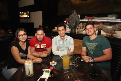 Dulce Abril, Aarón Estrada, Cristian Castañeda y David de la Rocha.