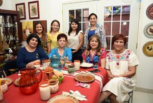 14102018 EN AMENA CONVIVENCIA.  Ana Luisa, Ana Lucía, Bertha, Lupita, Elvira, Verónica, Ana María y Lupita.