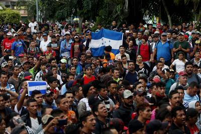 Llegaron a la frontera entre México y Guatemala.