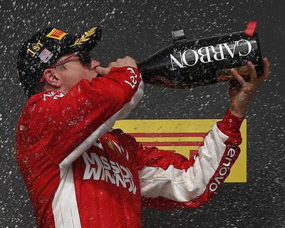 Kimi Raikkonen de Ferrari se coronó en Austin en el Gran Premio de Estados Unidos.
