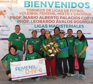 22102018 Equipo femenil de cachibol de jubiladas de Matamoros, Coahuila.