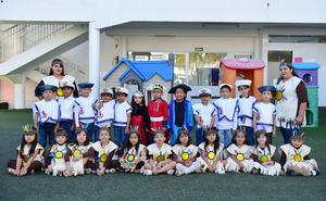 22102018 CHRISTOPHER COLUMBUS DAY.  Pequeños alumnos del Instituto Británico de Torreón con sus maestras.