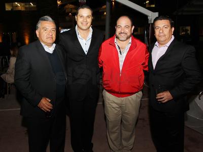 Adan Nevárez, Adán Herrera, Jared del Campo y Horacio Salas.