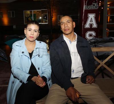 Fabiola Brito y Rafael Calzada.