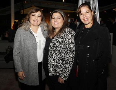 Nadia Rosales, Lety Galindo y Claudia Tébar.