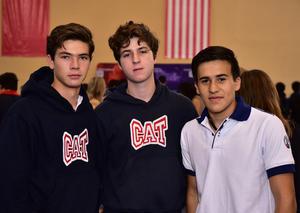 Tomas, Emiliano y Alan