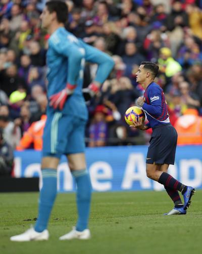 Coutinho festejó su primer gol ante Real Madrid.