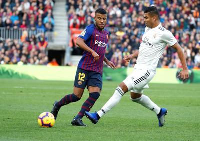 Rafinha apareció en el cuadro titular para enfrentar al Real Madrid tras la lesión de Lionel Messi y su gran actuación a media semana ante Inter.