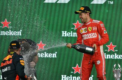 El alemán Sebastian Vettel (ferrari) quedó en segundo lugar.