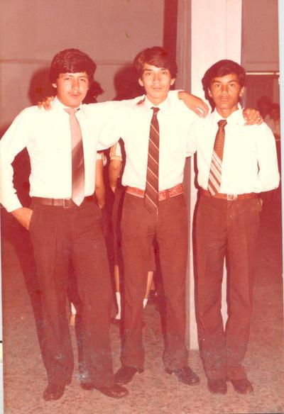 28102018 Alberto Rivera, Salvador y Ramiro Rodríguez, Escuela Secundaria Comercial Torreón, 1983.
