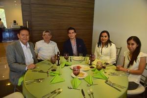 29102018 Jorge Galván, Juan Milán, Emilio Olloqui, Mireya y Arlet.
