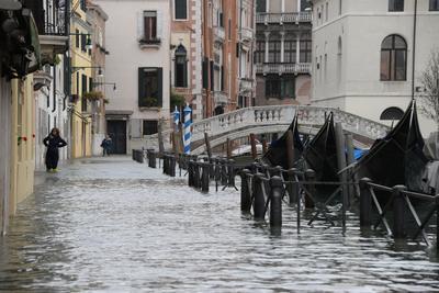 Un 70% de Venecia se inundó.