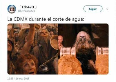 Llegan los memes por megacorte de agua en la CDMX