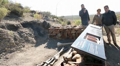 La zona paleontológica cuenta con una diversidad de restos de organismos fosilizados.