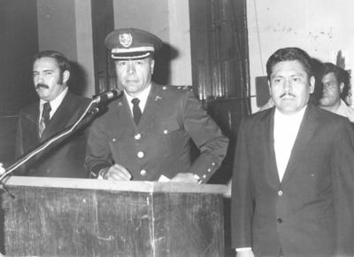 25112018 General DEM Adolfo Hernández Razo, Lic. Jesús Reyes García y Alcalde Lic. José Solís Amaro en un homenaje a los Niños Héroes en 1973.