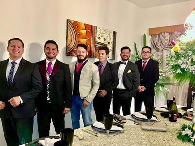 Claudio, Jimmy, Jesús, Chuyin, Sergio y Dani