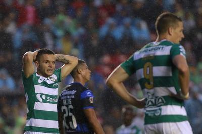 Jonathan Rodríguez fue el autor del único gol de Santos.
