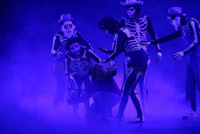 Con coloridas escenografías y entrañables personajes y canciones el público se adentró en una aventura junto a 'Miguel', un niño que en su deseo por querer ser músico termina atrapado en el mundo de los muertos.