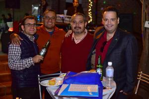 04112018 EN AMENA CONVIVENCIA.  Ricardo, Erick, Lucas y Ángel.