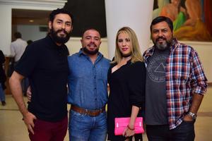 09112018 EN EL TEATRO.  Roberto, José, Poleth y Luis.