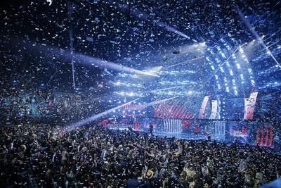 El final del evento de la 19a ceremonia anual de los Premios Grammy Latinos.
