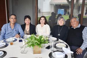 16112018 Carlos, Laura, Claudia, Patricia y Víctor.