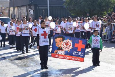 Participaron elementos de Cruz Roja.