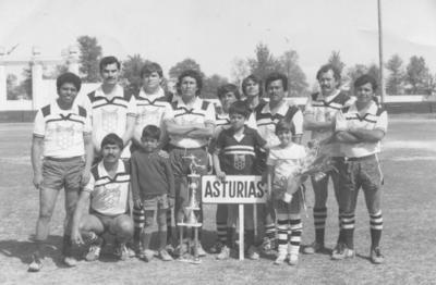 """18112018 Equipo """"Asturias"""" en el Estadio Revolución en 1983, Rafael Longoria Raveles y su hijo Rafael."""