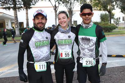 Fernando Medel, Natalia Casas e Isaac Cano.