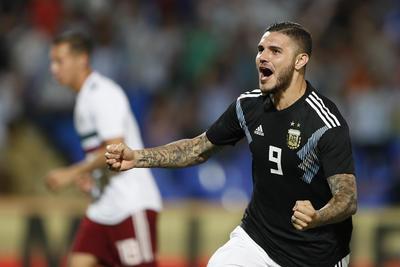 Icardi abrió el marcador para Argentina con sólo un minuto y medio de juego.