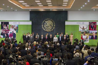 El presidente de México, Enrique Peña Nieto, encabezó la ceremonia del Premio Nacional de Deportes y Premio Nacional de Mérito Deportivo 2018, en la residencia Oficial de Los Pinos.