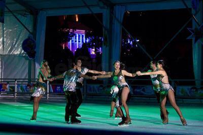 En el evento participaron nueve patinadores profesionales.
