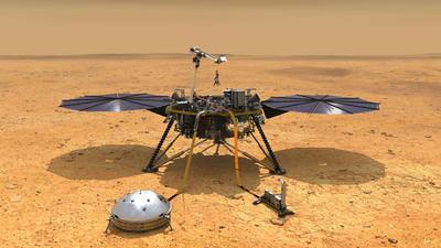 El modulo espacial InSight, la primera misión de la NASA que quiere estudiar específicamente el interior de Marte, aterrizó hoy con éxito en la superficie del planeta rojo.