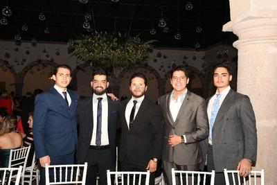 Jarib Hernández, Alfredo De León, Martín Moreno, Sergio López y Sebastian Villarreal.