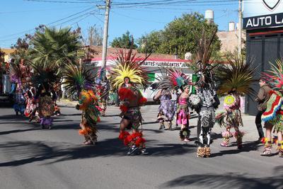 Las danzas atraen a cientos de visitantes al Santuario de nuestra señora de Guadalupe.