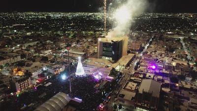 Inician festejos navideños en Torreón