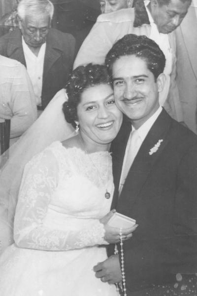 02122018 Socorro Huitrado Bustamante y Roberto Alonso Márquez contrajeron matrimonio el 10 de noviembre de 1956 en la Iglesia del Perpetuo Socorro.